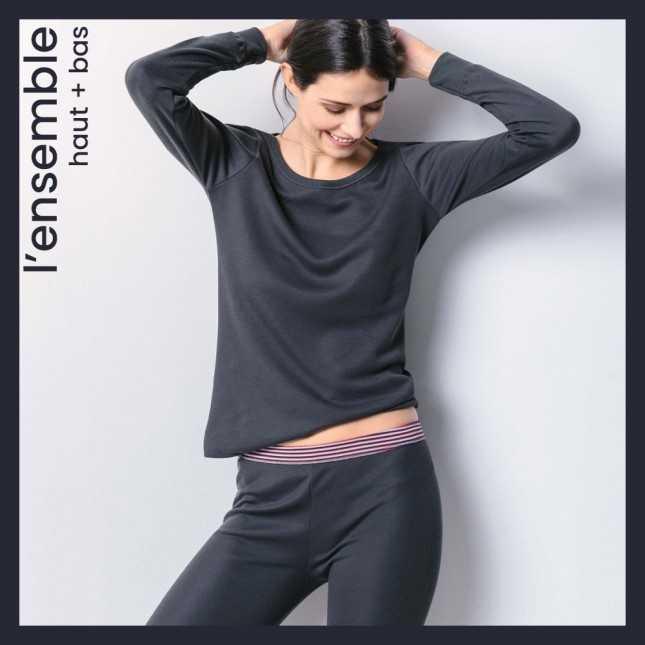 Ensemble extra chaud - Tee-shirt manches longues + Legging femme