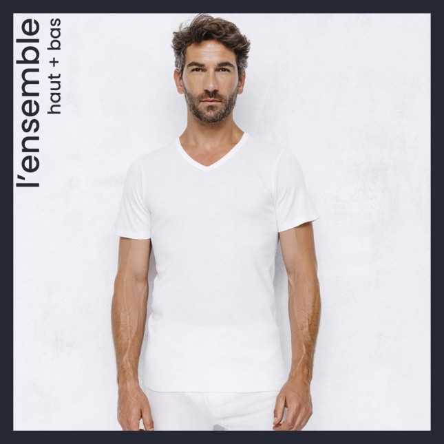 Ensemble Ultra chaud - Tee-shirt col V + Caleçon long