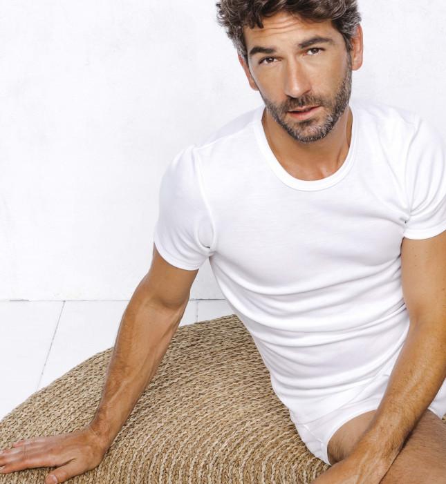 Tee-shirt Homme - Couleur - Manches courtes - 100% Coton   Lemahieu