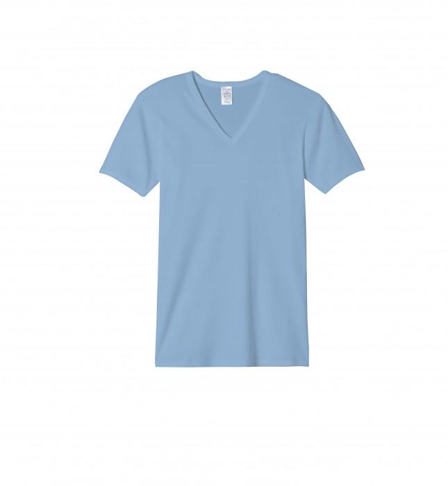 Tee-shirt Col V Homme - Couleur - Manches courtes - 100% Coton | Lemahieu