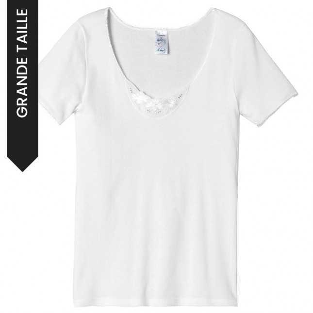 Tee-shirt en broderie anglaise | Lemahieu