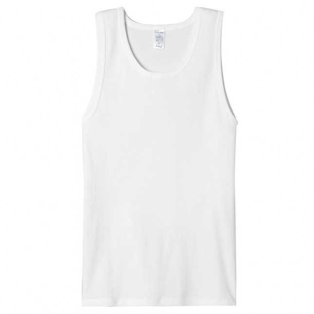 Tee shirt sans manche - Blanc - 100% Coton - Débardeur Homme | Lemahieu