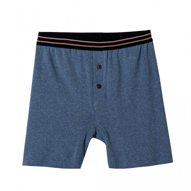 Boxer long Homme - 100% coton| Lemahieu