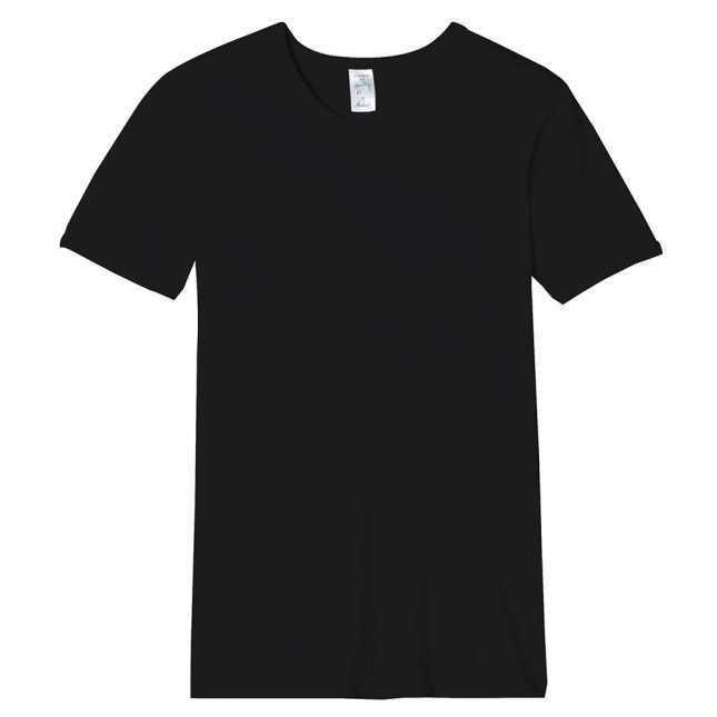 Tee-shirt Homme - Noir - Manches courtes - 100% Coton | Lemahieu