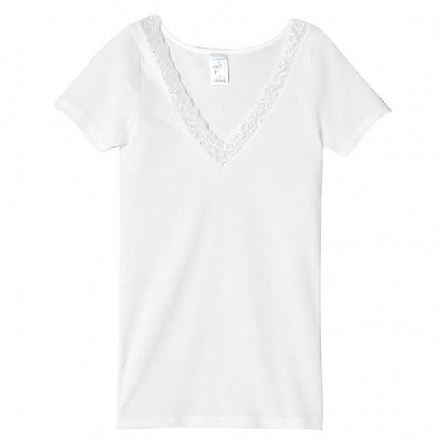 T-shirt Femme - Dentelle - Blanc