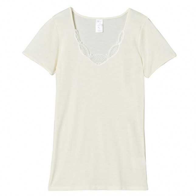 T-shirt Femme - Laine et soie | Lemahieu