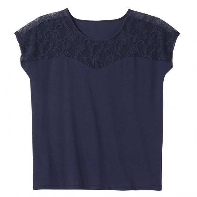 Tee-shirt modal en dentelle Femme | Lemahieu