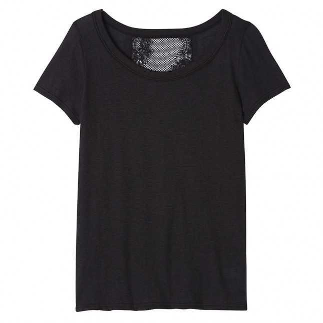 Tee-shirt avec dos en dentelle Femme | Lemahieu