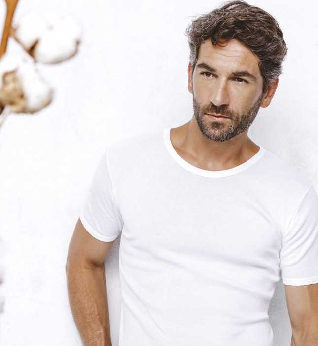 Tee-shirt Homme - Noir - Manches courtes - 100% Coton   Lemahieu