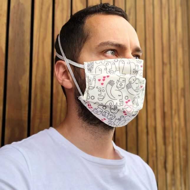 Lot de 3 Masques made in France en tissu lavable - Le Solidaire | Lemahieu