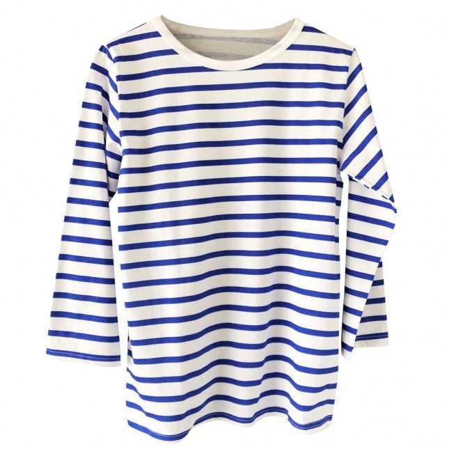 T-shirt Femme - Le trois-quarts marinière - Made in France | Lemahieu