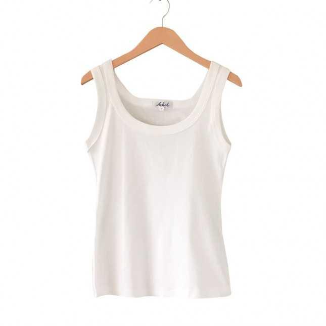 Débardeur Made in France Femme - Le basique Blanc| Lemahieu