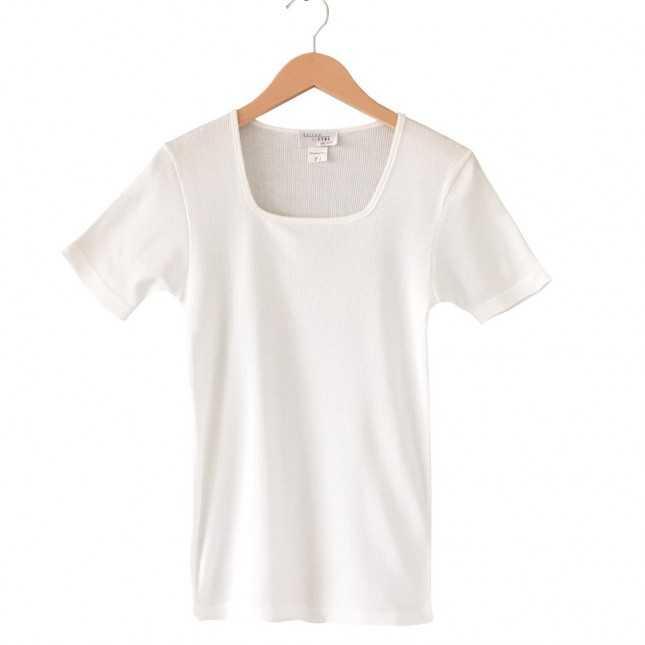 T-shirt Femme - Col carré - Blanc