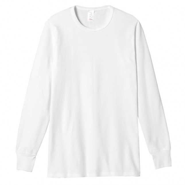 Tee-shirt Homme Blanc Manches longues - 100% Coton | Lemahieu