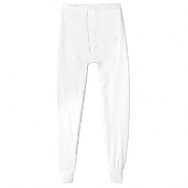 Legging thermique Homme – Interlock coton - Blanc | Lemahieu