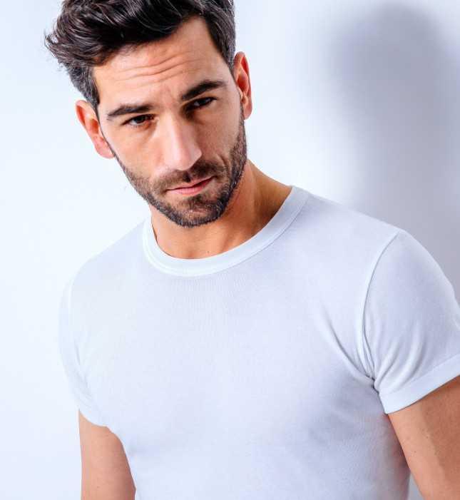 Tee-shirt manches courtes col rond en coton