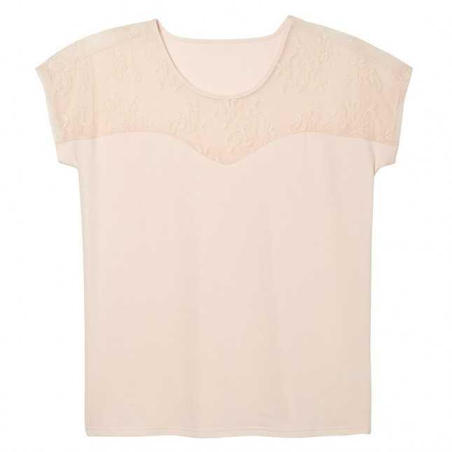 Tee-shirt poudre en dentelle Femme | Lemahieu