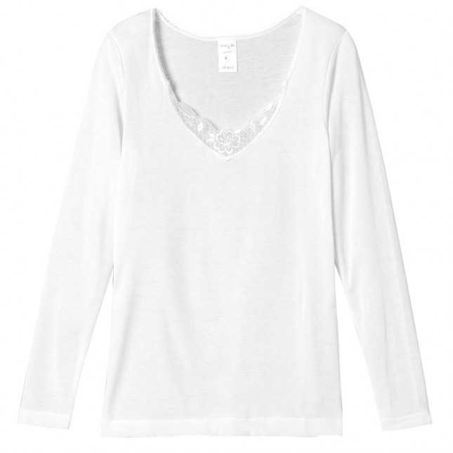 Tee-shirt manches longues brodé extra chaud Femme | Lemahieu