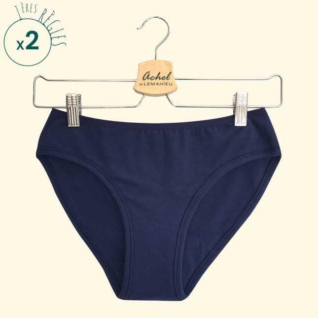 RESSOURCE - Lot de 3 Culottes menstruelles Bio - L'Ado Marine| Lemahieu