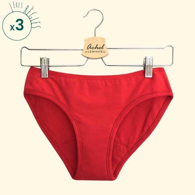 RESSOURCE - Lot de 3 Culottes menstruelles Bio - L'Ado Rouge | Lemahieu