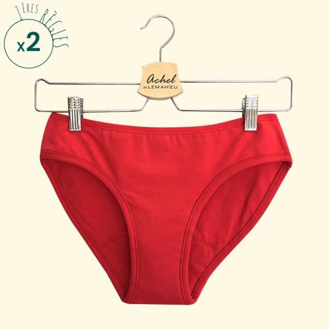 RESSOURCE - Lot de 2 Culottes menstruelles Bio - L'Ado Rouge | Lemahieu