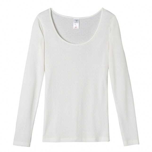 Tee-shirt manches longues en plumetis très chaud Femme | Lemahieu