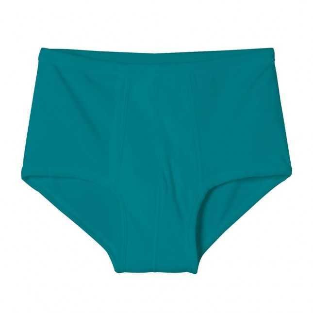 Slip à poche en coton - Vert Lagon - Made in France | Lemahieu