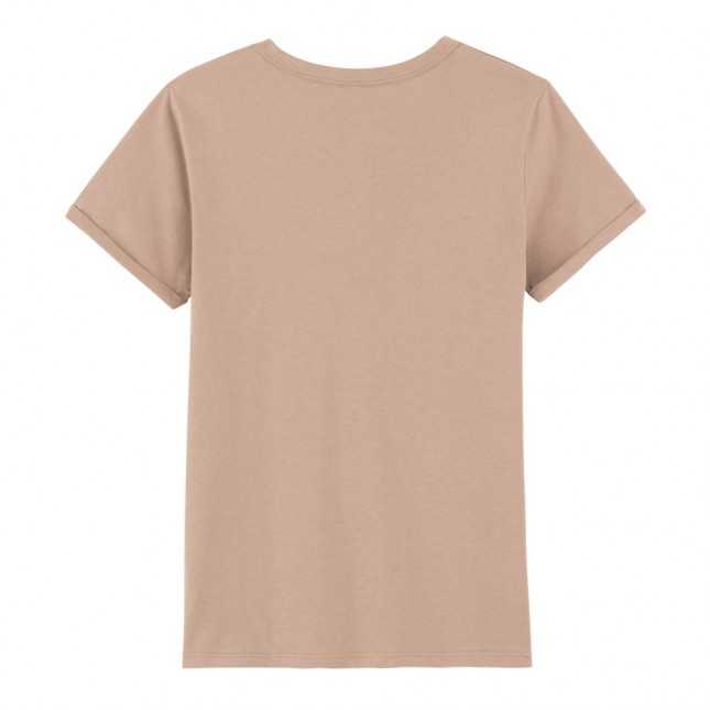 T-shirt manches à revers coton Bio - Seigle