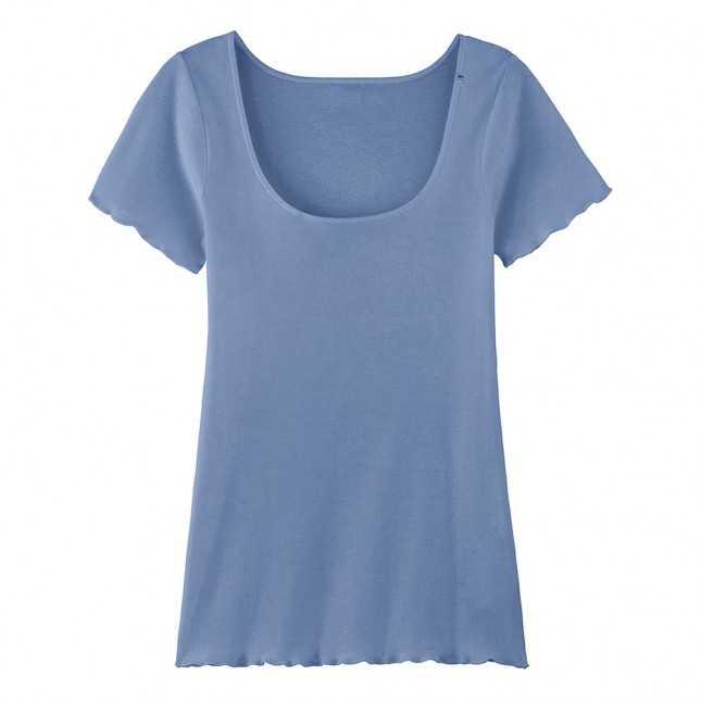 Lot de 2 T-shirts point de bourdon - La Flâneuse - Bleu Océan   Achel par Lemahieu