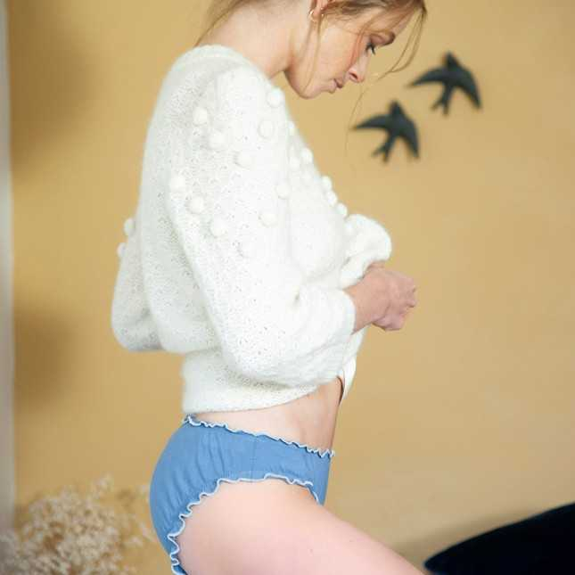 Culotte coton Bio Froufrou - naturel