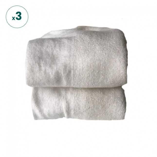 Chaussettes basses - Blanc Made in France | Achel par Lemahieu