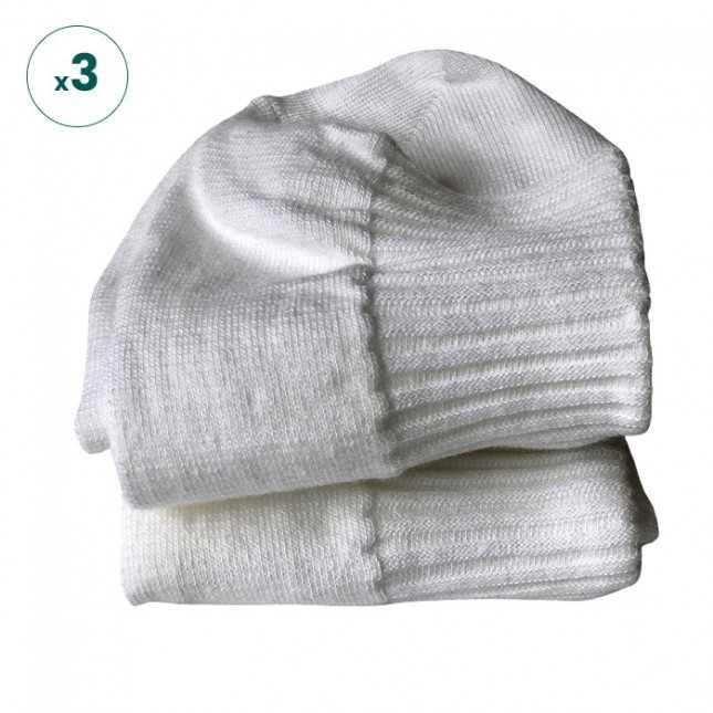 Chaussettes basses - Blanc Made in France   Achel par Lemahieu