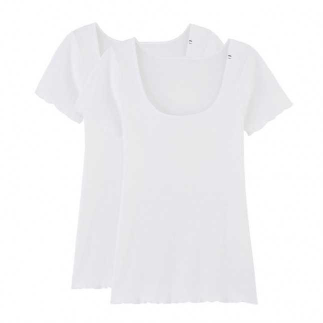 Lot de 2 T-shirts point de bourdon - La Flâneuse | Achel par Lemahieu