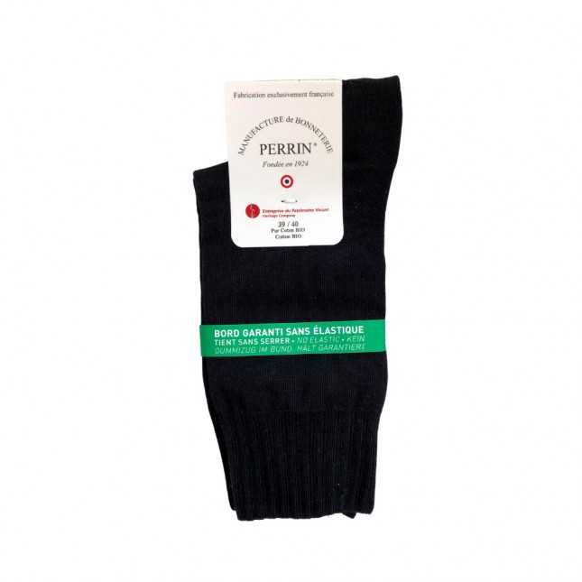 Chaussettes sans élastique Coton bio - Marine