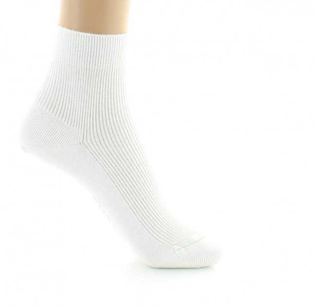 Chaussettes mixtes Coton bio - blanc