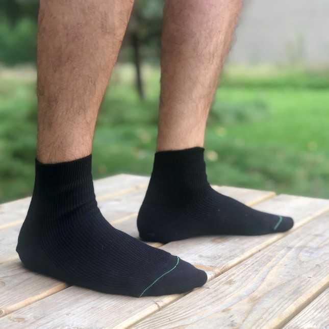 Chaussettes mixtes Coton bio - Noir