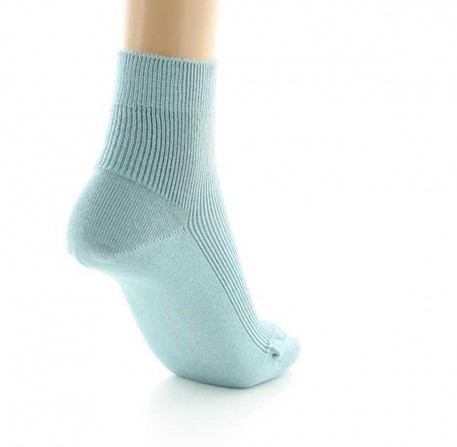 Chaussettes mixtes Coton bio - Bleuté