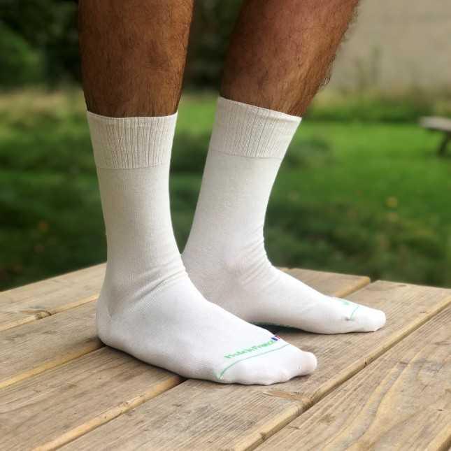 Chaussettes sans élastique Coton bio - Blanc