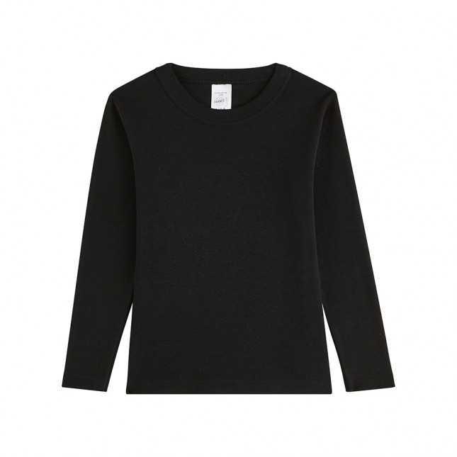 T-shirt manches longues en laine - Enfant - Noir