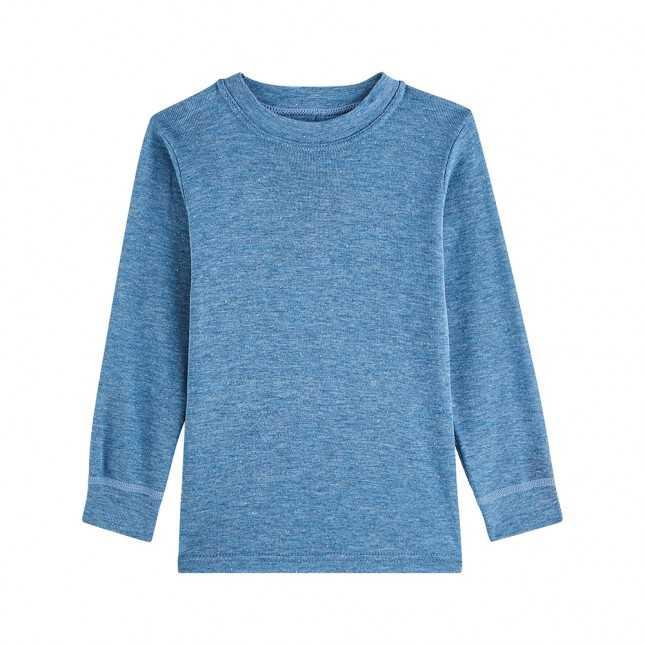 T-shirt thermique manches longues - Enfant - Bleu