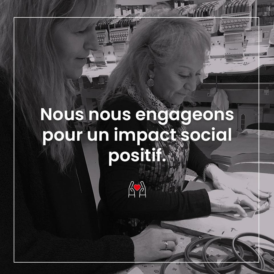 Impact social positif - Mode responsable Lemahieu